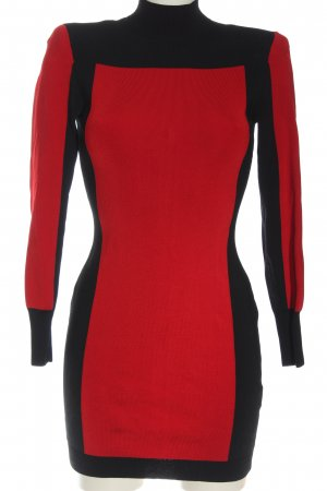 Balmain for H&M Sweater Dress red-black elegant