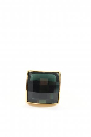 Balmain for H&M Anillo de cuentas verde-color oro elegante