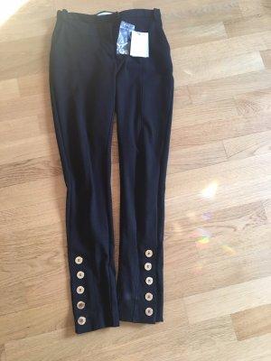 Balmain Pantalón de pinza alto negro-color oro