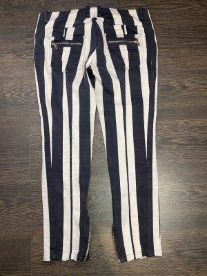 Balmain Pantalon 7/8 blanc-noir