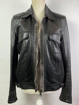 Balmain Veste en cuir noir cuir