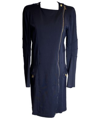 Balmain Robe mi-longue bleu foncé viscose
