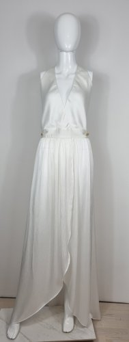 Balmain Vestido de noche blanco Seda