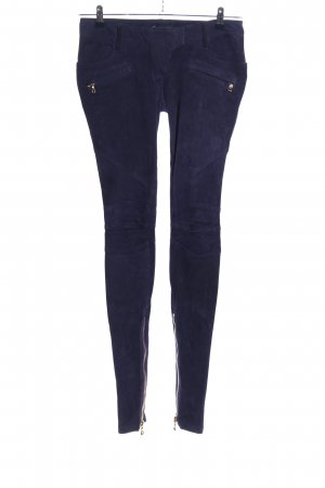 Balmain Leather Trousers blue casual look