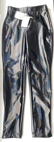 Balmain Lederoptik Latex Hose mit Regenbogen reflektion