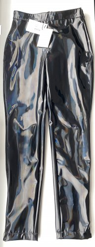 Balmain Pantalon en simili noir polyamide