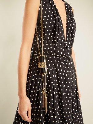Balmain Minitasche Kettentasche gold schwarz Schultertasche wristlet-clutch glamour Minaudière