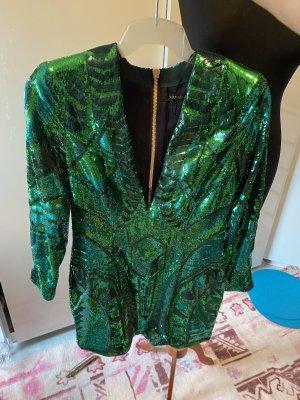 Balmain for H&M Robe à paillettes vert forêt-vert
