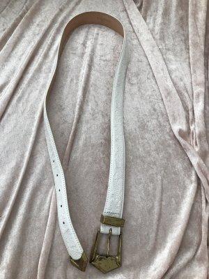 Balmain Ceinture en cuir blanc