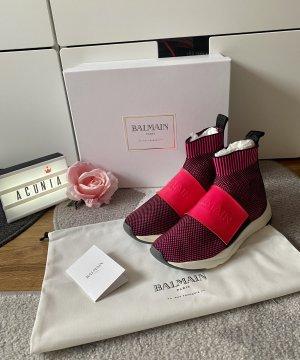 Balmain Paris Sneaker pink schwarz Größe 37