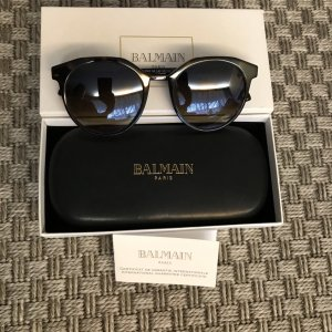 Balmain Oval Sunglasses multicolored synthetic material