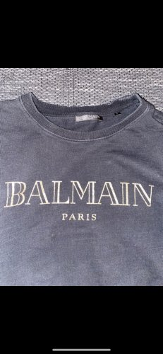 Balmain Pull ras du cou noir-doré