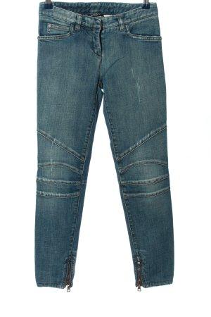 Balmain Jeans cigarette bleu style décontracté