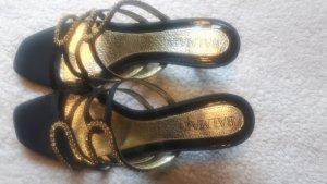 Balmain Sandaletto con tacco alto nero-oro