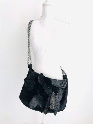 Balmain Schultertasche, schwarz, Leder