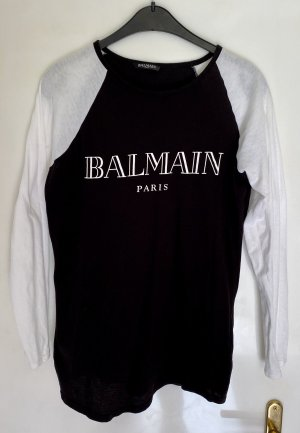 Balmain T-shirt bianco-nero