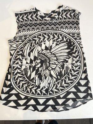 Balmain Shirt Gr. FR 42 / D 40 schwarz/ weiß