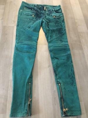 Balmain Jeans skinny vert coton