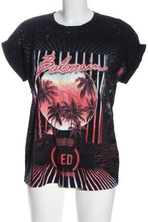 Balmain T-shirt imprimé avec thème élégant