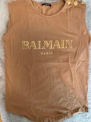 Balmain T-shirt color cammello-beige