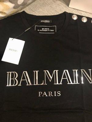 BALMAIN T-Shirt schwarz/silber, Gr. L
