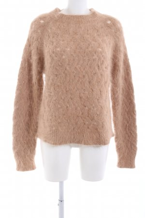 Balmain Wollpullover nude Zopfmuster Casual-Look