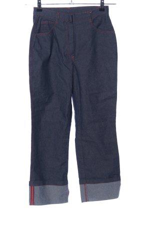 Jeans a 7/8 blu stile casual
