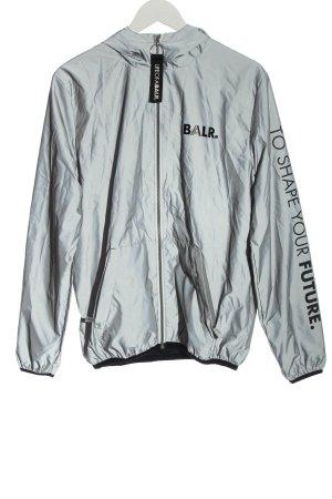 BALR. Veste softshell gris clair-noir imprimé avec thème style décontracté