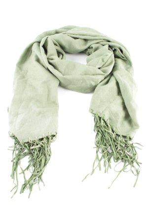 Fransenschal grün Casual-Look