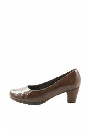 Bama Hochfront-Pumps braun Casual-Look
