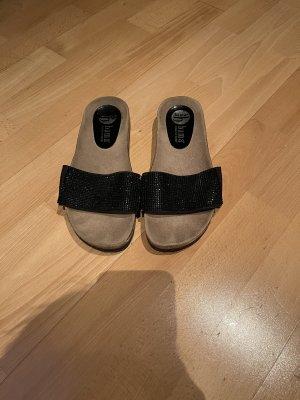 Bama Heel Pantolettes black-light brown