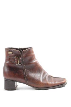 Bama Zipper Booties brown casual look