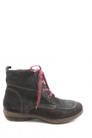 Bama Lace-up Booties black casual look