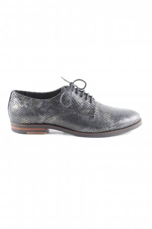 Bama Lace Shoes silver-colored allover print business style