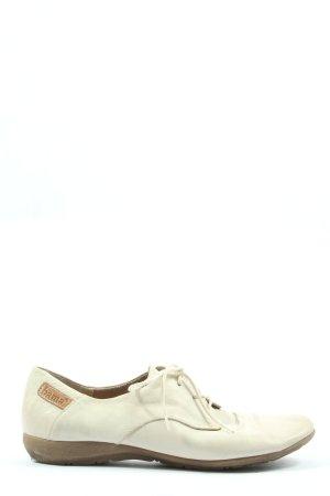 Bama Sznurowane buty w kolorze białej wełny W stylu casual