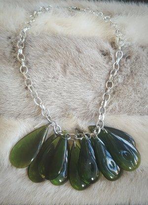 Bamboleo Statement Necklace silver-colored-green