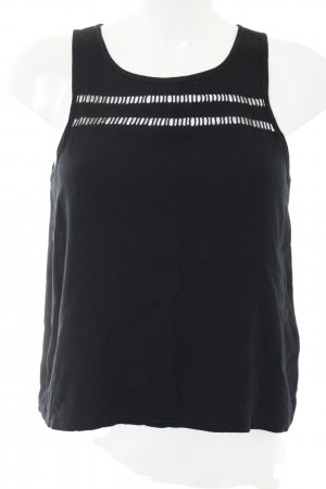 bamboo blonde Cropped Top schwarz Casual-Look