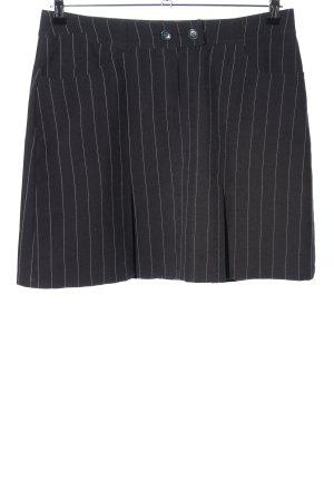 Bamboo Faltenrock schwarz-weiß Streifenmuster Business-Look
