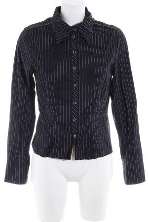 Bamboo Hemd-Bluse schwarz-weiß Streifenmuster Elegant