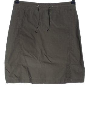 Bamboo High Waist Skirt light grey casual look