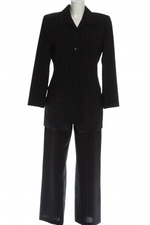 Bamboo Trouser Suit black striped pattern business style