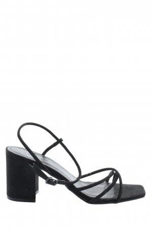 Bamboo Strapped High-Heeled Sandals black casual look