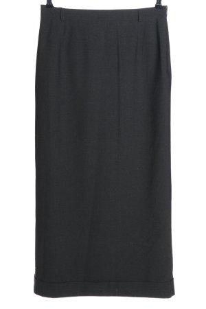 Bamboo Maxi Skirt black business style