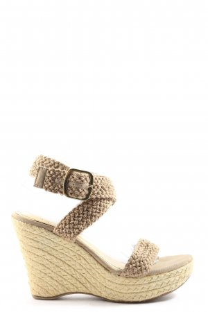 Bamboo Platform Sandals natural white casual look