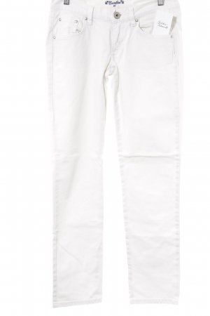 Bamboo Straight-Leg Jeans weiß Casual-Look