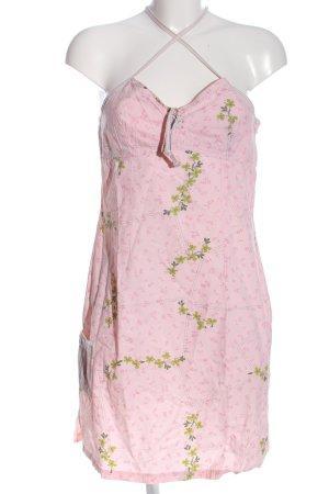 Banana Moon Mini Dress pink-green flower pattern casual look