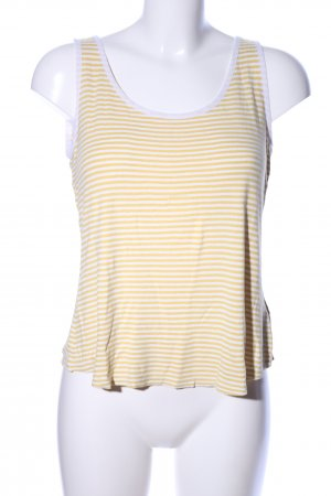 Banana Republic A-Linien Top weiß-blassgelb Streifenmuster Casual-Look
