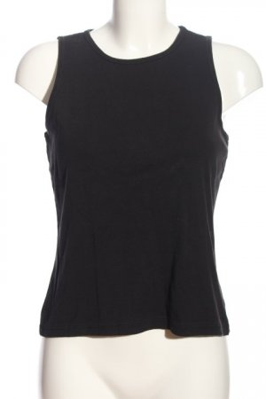 Banana Republic Basic Top schwarz Casual-Look