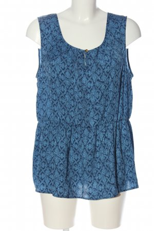 Banana Republic ärmellose Bluse blau abstraktes Muster Casual-Look