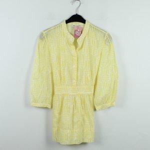 Banana Republic Lange blouse neongeel-wit Katoen